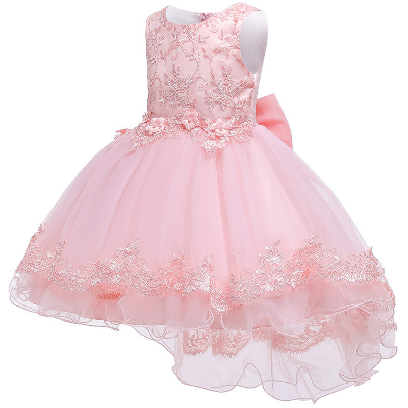 HTB1TitIe.GF3KVjSZFvq6z nXXab - Kids Princess Dresses For Girls Clothing Flower Party Girls Dress Elegant Wedding Dress For Girl Clothes 3 4 6 8 10 12 14 Years