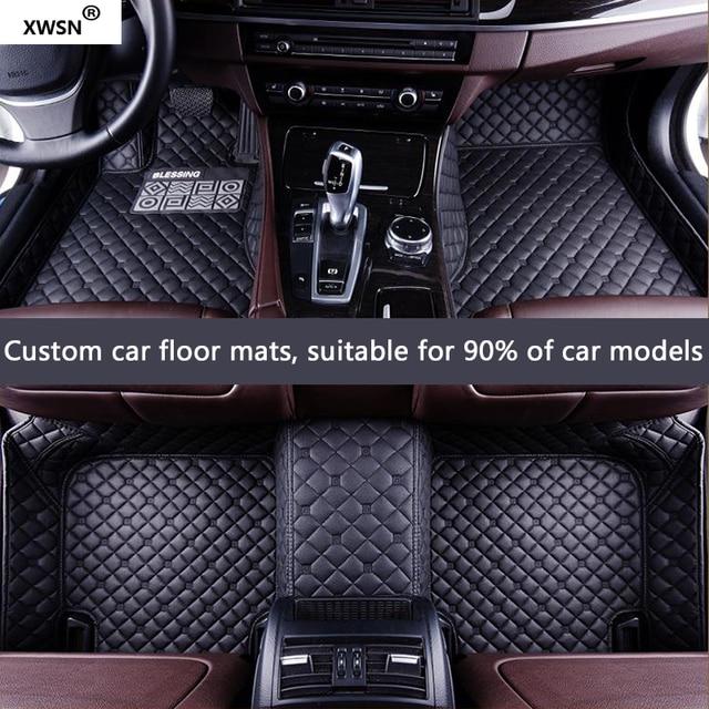 XWSN custom car floor mat for fiat all models fiat 500x freemont palio albea fiat panda Auto accessories car mats