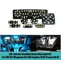 8 pcs Car LED Interior reading dome map Light Kit Glove box,Trunk,Visor Light for GIT/Magotan/CC/Old Sagitar/R36/Passat B6 B7