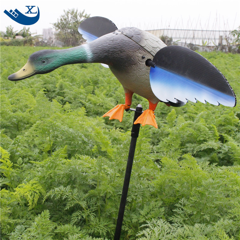 ФОТО 2017 Free Shipping Wholesale Mallard 6V/12V Plastic Duck Decoys For Hunting New Duck Decoy With Magnet Spinning Wings