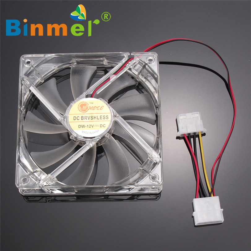 BINMER 120 x 120 x 25mm 4 Pin Computer Fan Colorful Quad 4-LED Light Neon Clear 120mm PC Computer Case Cooling Fan Mod C0608 sang gyun x kenta fan meeting seoul