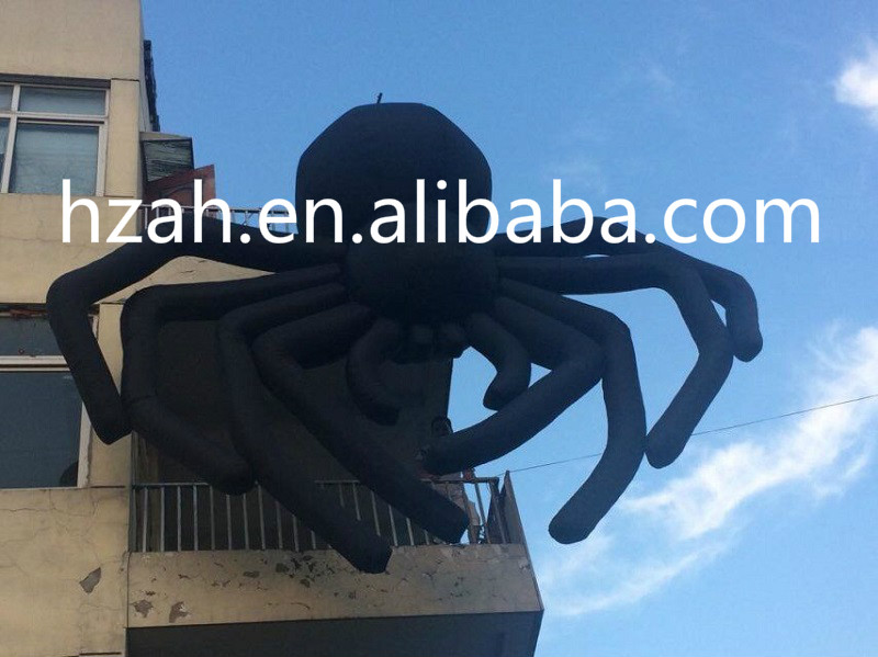 Giant 5m Hanging Inflatable Black Spider for Halloween Decoration giant inflatable balloon for decoration and advertisements