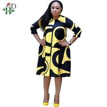 african women dress dashiki print dresses long sleeve winter spring vestidos S8032