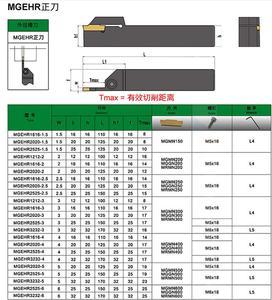 Image 3 - MGEHR1010 MGEHR1212 MGEHR1616 MGEHR2020 1.5 2 2.5 3 4 5 rowków arborTool uchwyt na wytaczadło narzędzie cnc toczenie zewnętrzne narzędzie
