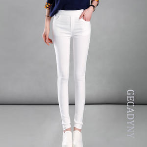 GECADYNY Female Elastic Cotton Pants Women Trousers