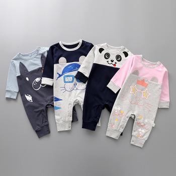 Moda dla dzieci z długim rękawem odzież dla niemowląt chłopców ubrania dla dziewczynek słodkie zwierzaki pajacyki bawełniane śpioszki dla niemowląt noworodka 1-6-9-18 miesięcy tanie i dobre opinie spandex COTTON Drukuj Unisex Pełna O-neck KLo989 Pasuje mniejszy niż zwykle proszę sprawdzić ten sklep jest dobór informacji