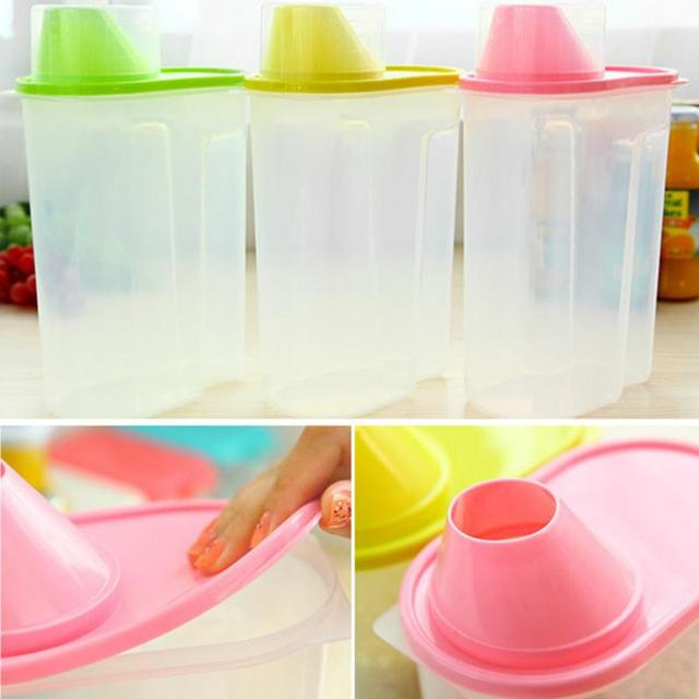 Large Plastic Food Storage Containers Kitchen Candy Container Food Saving  Case Corn Beans With Cover Kitchen