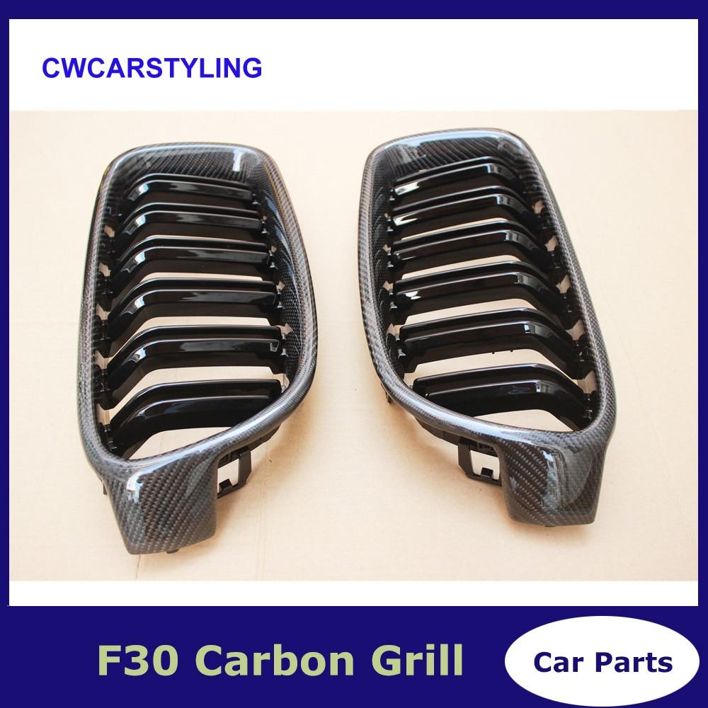 Genuine carbon fiber 3 series f30 f31 grill dual slat glossy black grille for bmw 3 series 318i 320i 328i 330i 335iGenuine carbon fiber 3 series f30 f31 grill dual slat glossy black grille for bmw 3 series 318i 320i 328i 330i 335i
