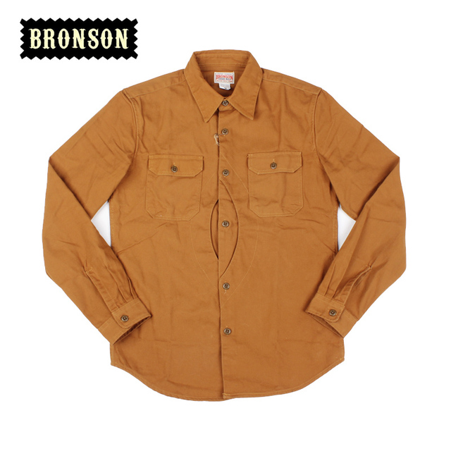 Read The Description Bronson 12oz Heavy Cotton Long Sleeve Game Pockets Workshirt Casual Shirt Slim
