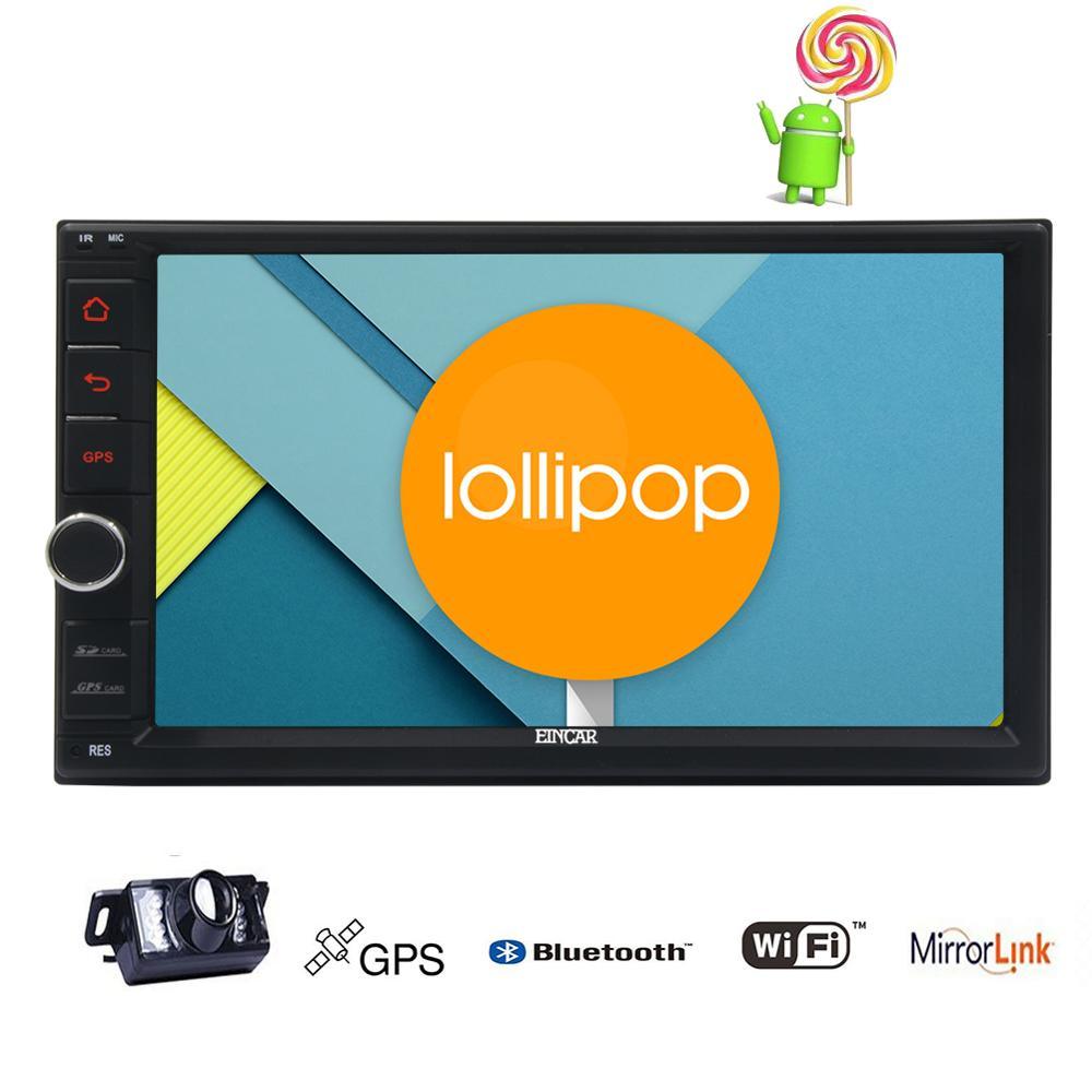 Cheap 2Din Head Unit Android 5.1.1 GPS radio Car Stereo Auto Radio Audio 1080P Video Player Wifi FM Steering Wheel Control+rear Camera 0