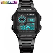 PANARS Fashion Watch Men Sport Digital Watches 5bar Waterproof Watch Stainless Steel Business Wristwatches Chronograph Clock цена в Москве и Питере