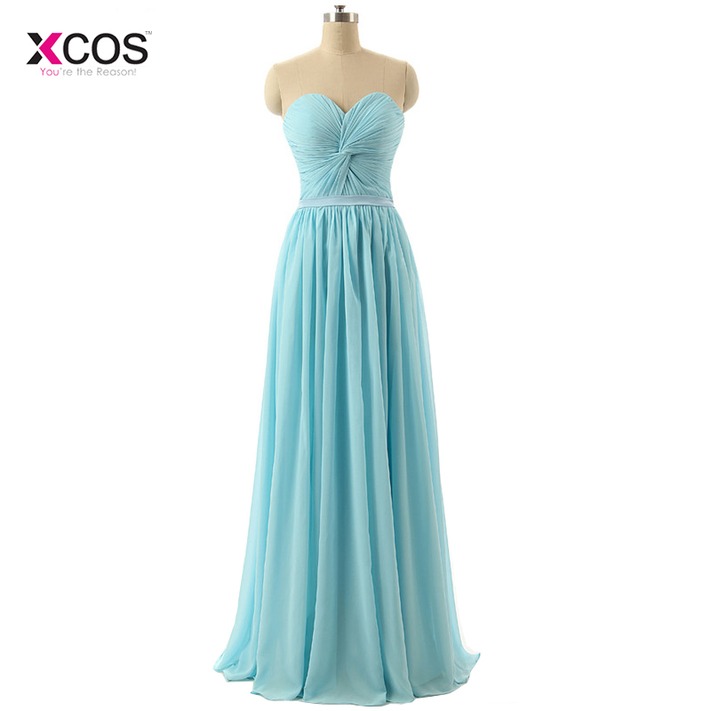 Natural Simple Elegant 2018 Blue Bridesmaid Dresses With: Beach Chiffon Long Bridesmaid Dresses Light Blue 2018