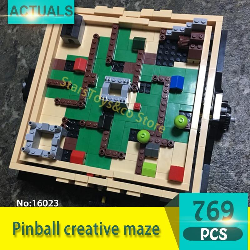 Lepin 16023 769Pcs Creative series Pinball creative maze Model Building Blocks Set  Bricks Toys For Children Gift wind pinball
