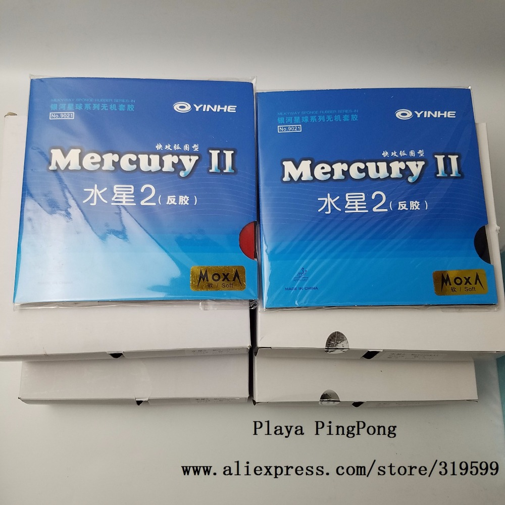 1x Original yinhe Mercury 2 tenis de mesa de goma 9021 para raquetas de tenis de mesa hoja raqueta ping pong de goma granos en