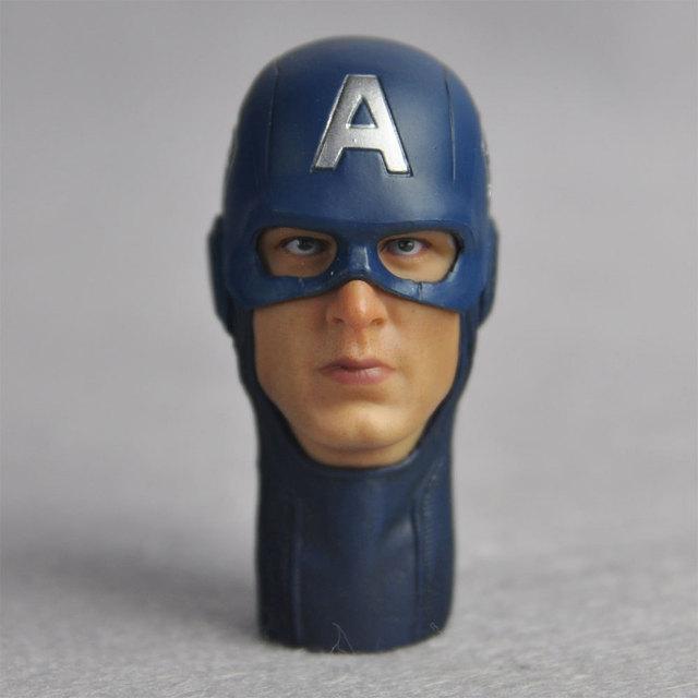 27ee0d4fa7a5d 1 6 escala personalizada soldado inverno cabeça Sculpt capitão américa  Chris Evans máscara