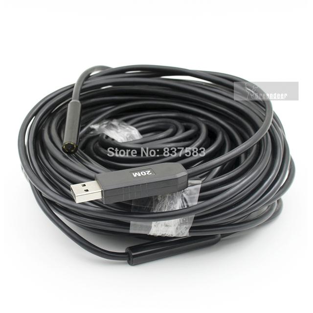 Cabo de 20 M Waterproof Mini USB endoscópio câmera de inspeção endoscópio Snake Camera 5.5 mm led USB endoscópio endoscópio tubo