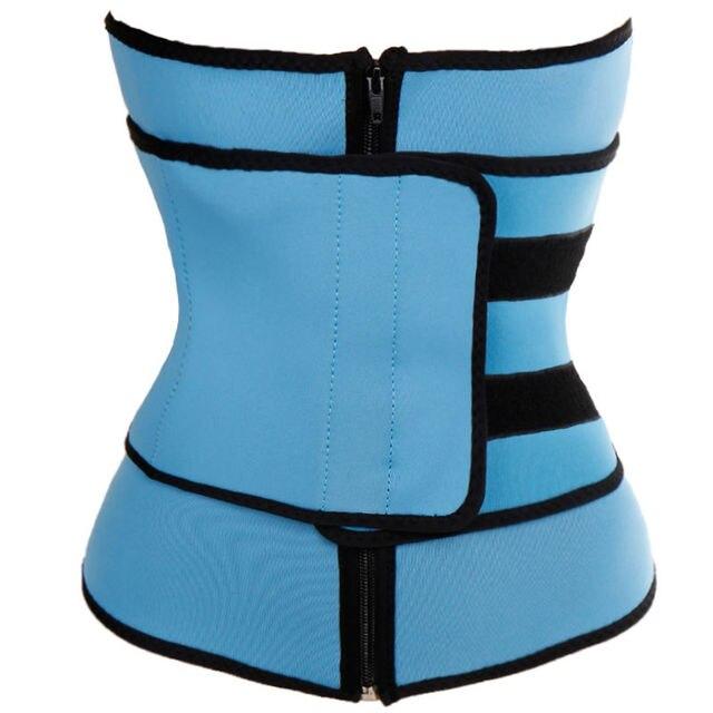 Unisex Women Underbust Waist Trainer Zipper Tight Up Body Cincher Neoprene Body wasit Tummy Control Shaper Shapewear