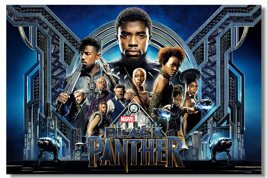 Custom Canvas Wall Decor Black Panther Poster Black Panther ...