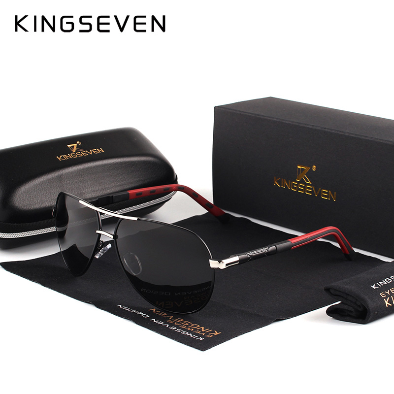 7-Day Delivery KINGSEVEN Vintage Aluminum Polarized Sunglasses Brand Sun glasses Coating Lens Driving EyewearFor Men/Wome N725 8