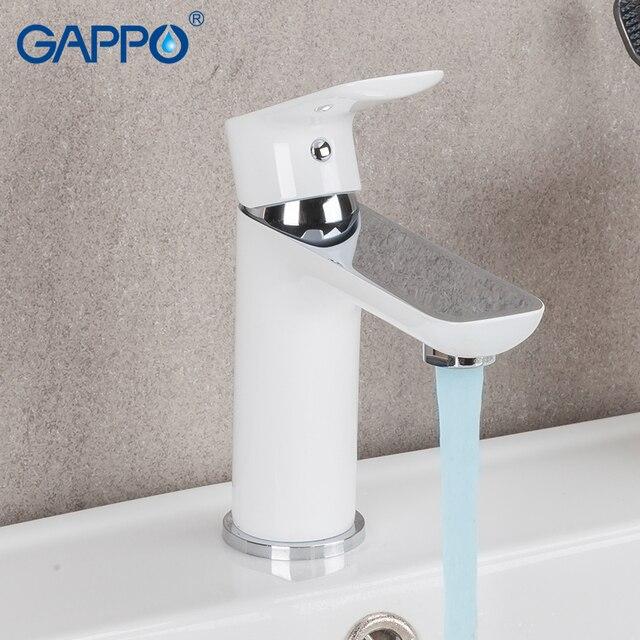 GAPPO mitigeur de lavabo mitigeur | Robinets de lavabo blanc, robinets de baignoire, robinet de baignoire mélangeur de baignoire, ensemble de douche de salle de bains