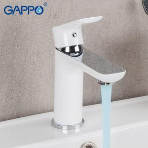Image 3 - GAPPO 白流域の蛇口水シンク流域ミキサータップ浴槽の蛇口バスタブ浴室のシャワーセット