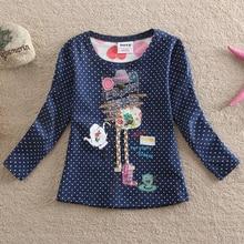 Здесь можно купить  2 colors Kids clothes NOVA 100%cotton fashion polka dot children clothing o-neck regular pattern girls long sleeve t-shirt F2101  Children