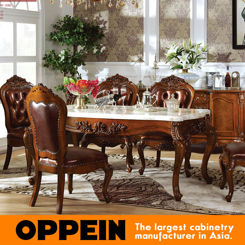 European Style Antique Durable Marble Long Dining Table OT 0314072 In Dining