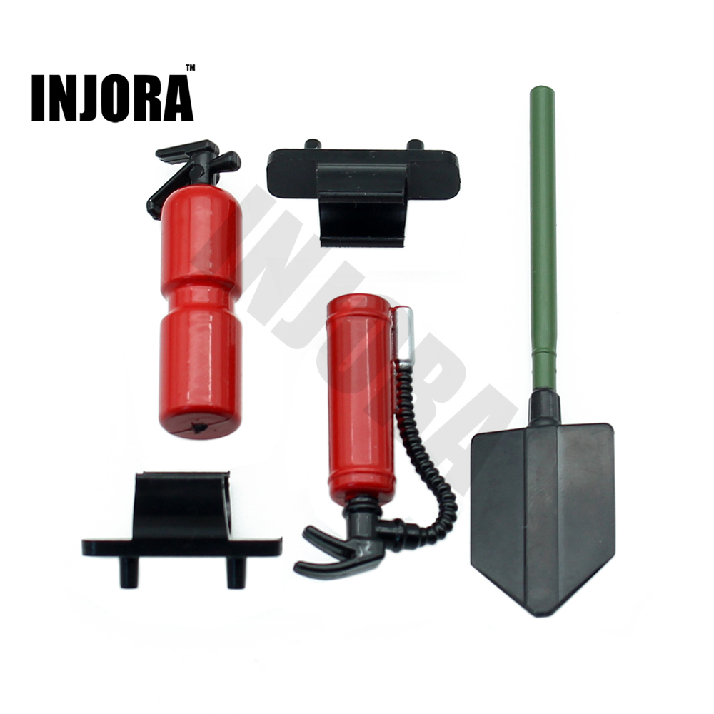 RC Car Plastic Fire Extinguisher Shovle Decoration Tools For 1:10 RC Rock Crawler Axial SCX10 Wraith Yeti D90 D110 Traxxas TRX-4