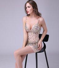 Роскошные Короткие платья 2020 бретельки полностью бисером Кристаллами