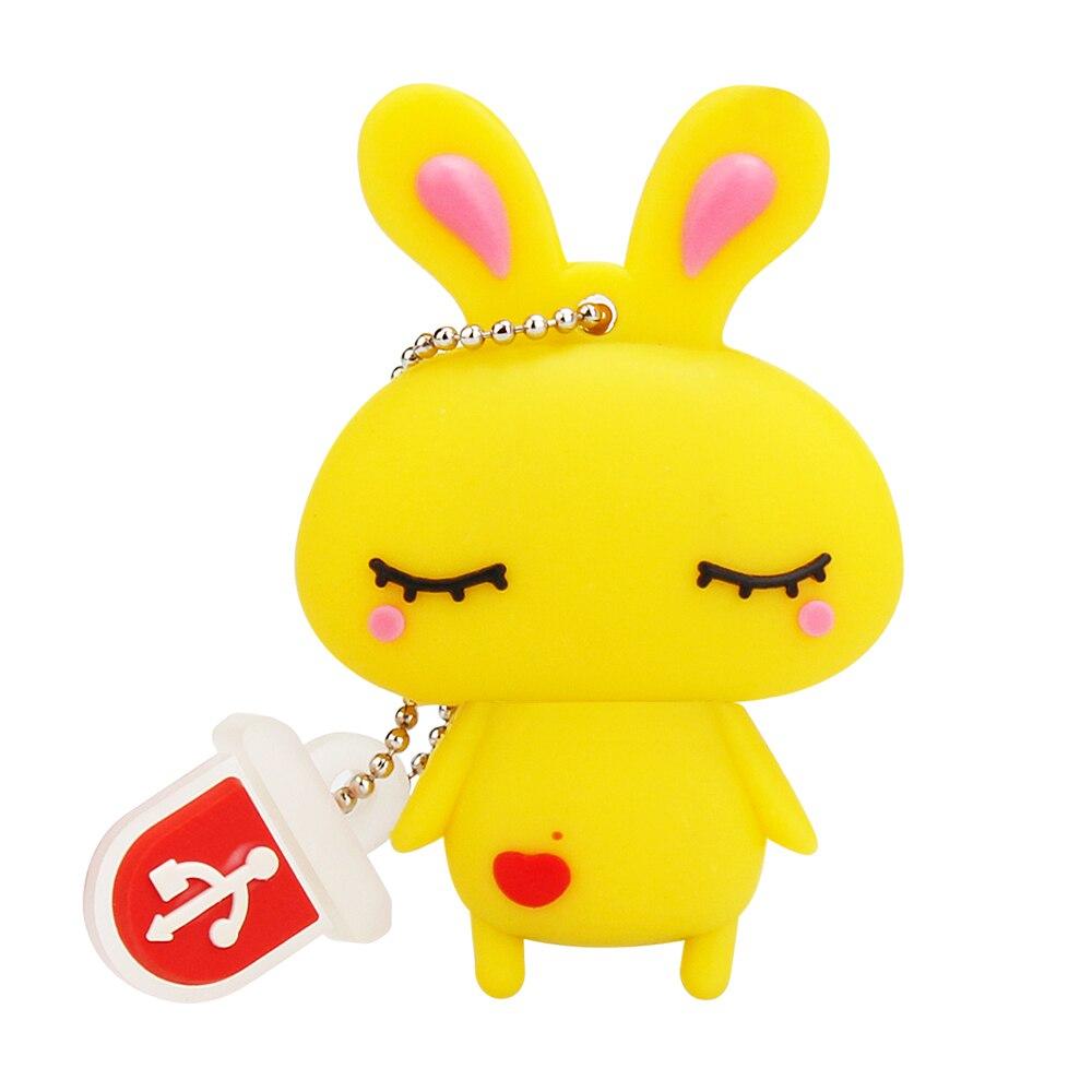 Creative Usb Flash Drive Cute Cartoon Rabbit 4GB 8GB 16GB 32GB Pen Drive High Speed Usb Stick 64GB 128GB Pendrive Free Shipping (4)