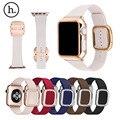 Original hoco estilo moderno fecho magnético pulseira de couro real de couro genuíno watch band para apple watch iwatch wth caso capa