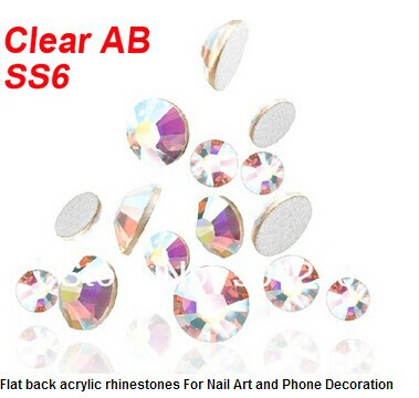 1400 PCS 2MM flat back acrylic rhinestones 3d nail art decorations cell phone rhinestone stickers Gems Clear AB SS6 Wholesale mixed flat back pearls mixed size nail pearls for nails acrylic nail supply nail art rhinestone decorations new arrive zj1233