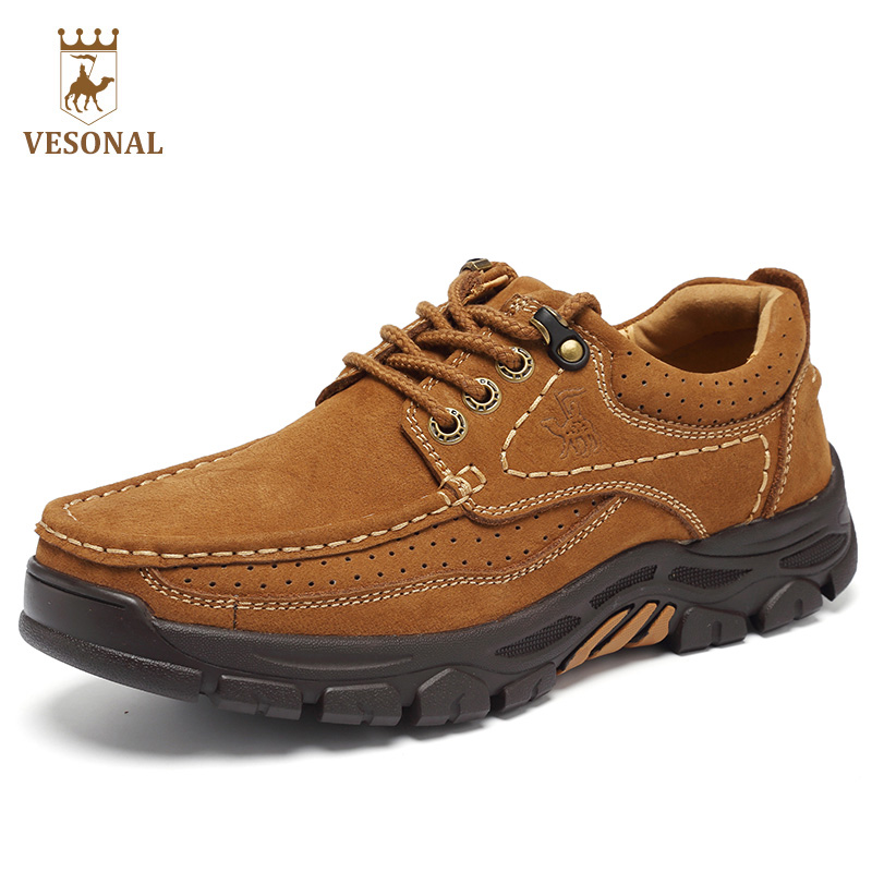 VESONAL Brand Casual Footwear Men Shoes Male Walking Adult 2017 Comfortable Soft Genuine Leather Quality Breathable Man Shoes vesonal brand casual shoes men loafers adult footwear ons walking quality genuine leather soft mocassin male boat comfortable