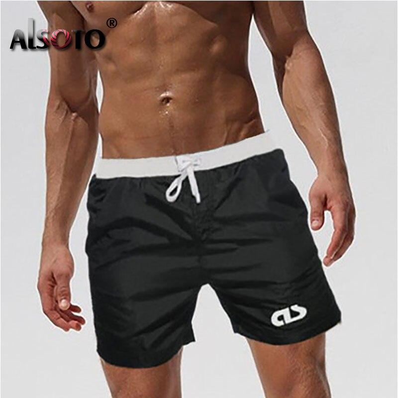 2019 Summer Beach Shorts Swimsuit Men Sexy Trunks Sunga Briefs Mayo Board Swimwear Badpak Maillot De Bain Boxer