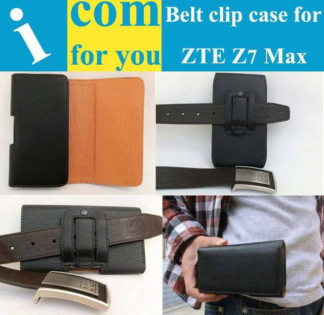 "Holster Clip Belt Leather case for ZTE Nubia Z7 Max NX505J 5.5"" Climbing Biking Camping Outdoor activities"