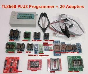 Image 5 - 100% oryginalny TL866II PLUS programator + 24 adaptery + zacisk ic szybki AVR MCU Flash EPROM programator wymień TL866A/CS