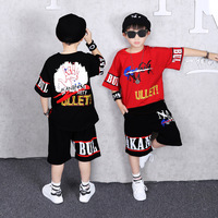 Summer Suits for Boys Clothes 2019 Childrens Set Cotton Short Sleeve Tshirt+Pants Tracksuits for Boys Big Size 10 12 14Years