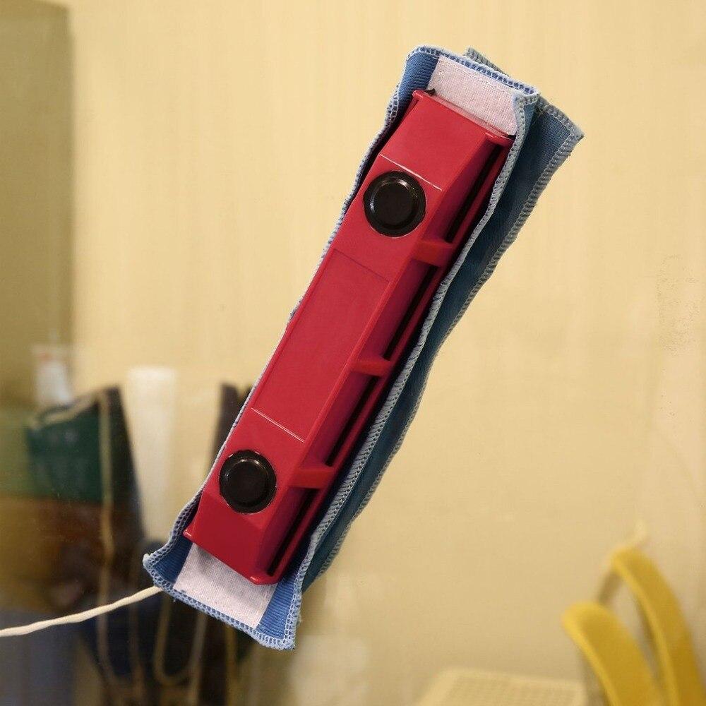 1 PC Unid limpiador de ventanas magnético para ventanas de acristalamiento simple herramienta de limpieza de vidrio útil portátil con tela para uso en el hogar