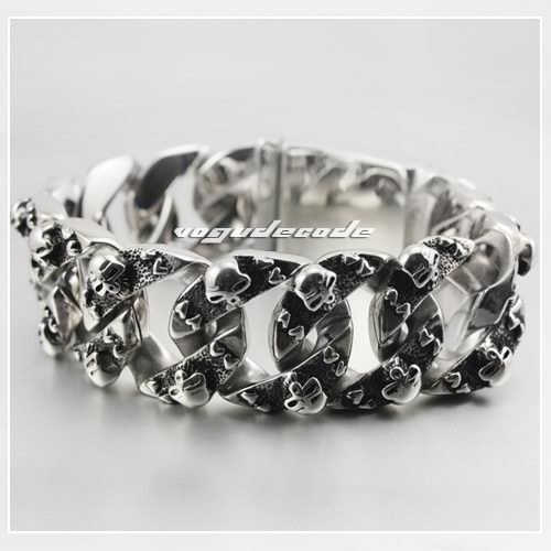 Sample Order 8.9 Huge & Heavy 316L Stainless Steel Skulls Men`s Biker Bracelet 5F004 multivariate order statistics under random sample size