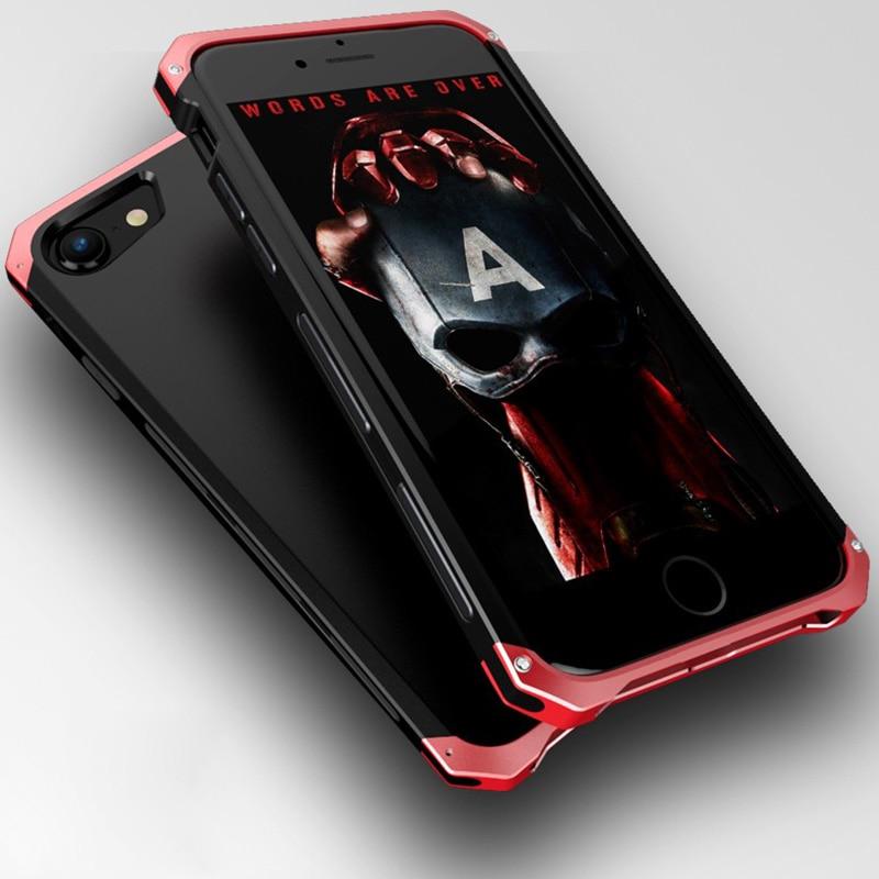 Nárazuvzdorný kryt brnění pro iPhone 8 Plus pouzdro Tvrdý TPU kovový hliníkový rám telefonu zadní kryt pro iphone 7 plus 8 případ luxusní