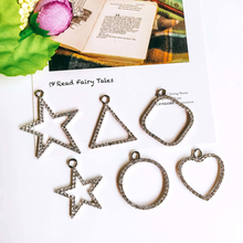 Geometric Earring Accessories Star Metal Pendant Eardrop Components Necklace Charms Diy Making Material Jewelry Finding 6pcs geometric earring accessories star metal pendant eardrop components necklace charms diy making material jewelry finding 6pcs