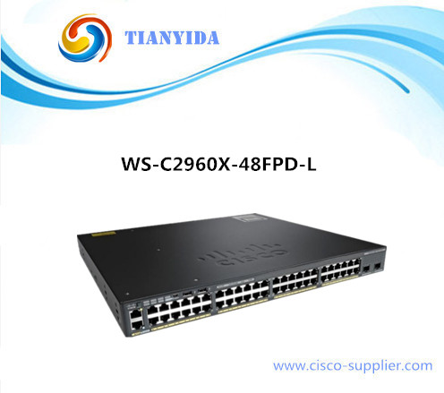 NEW WS-C2960X-48FPD-L 48 10/100/<font><b>1000</b></font> <font><b>Rj45</b></font> Port Gigabit POE <font><b>Switch</b></font> image