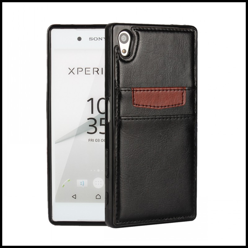 Phone Cover Case For Sony Xperia Z5 E6603 E6653 Card Slot Elegant Mobile Accessory Smartphone Back Shell For Sony Z5 E6603 E6653