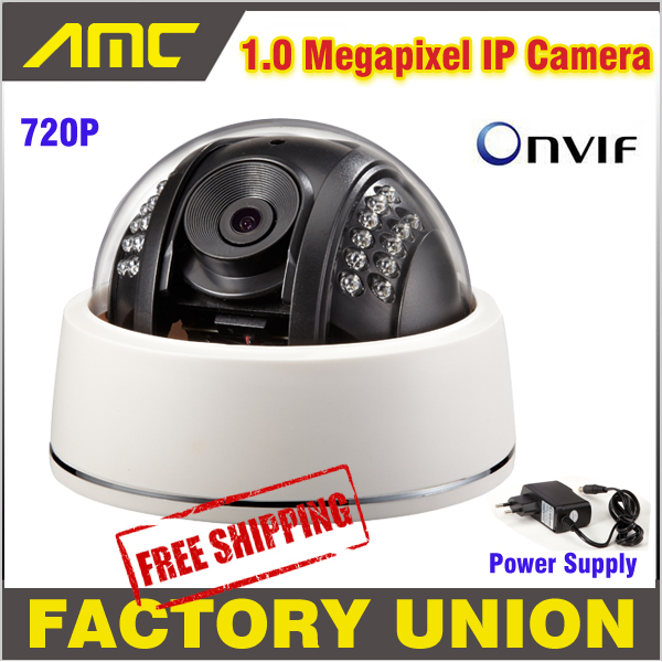 1.0 Megapixel IP Camera outdoor High Quality CCTV Security Camera IP HD Onvif 2.3 IR Night Vision Dome Camera 4 in 1 ir high speed dome camera ahd tvi cvi cvbs 1080p output ir night vision 150m ptz dome camera with wiper