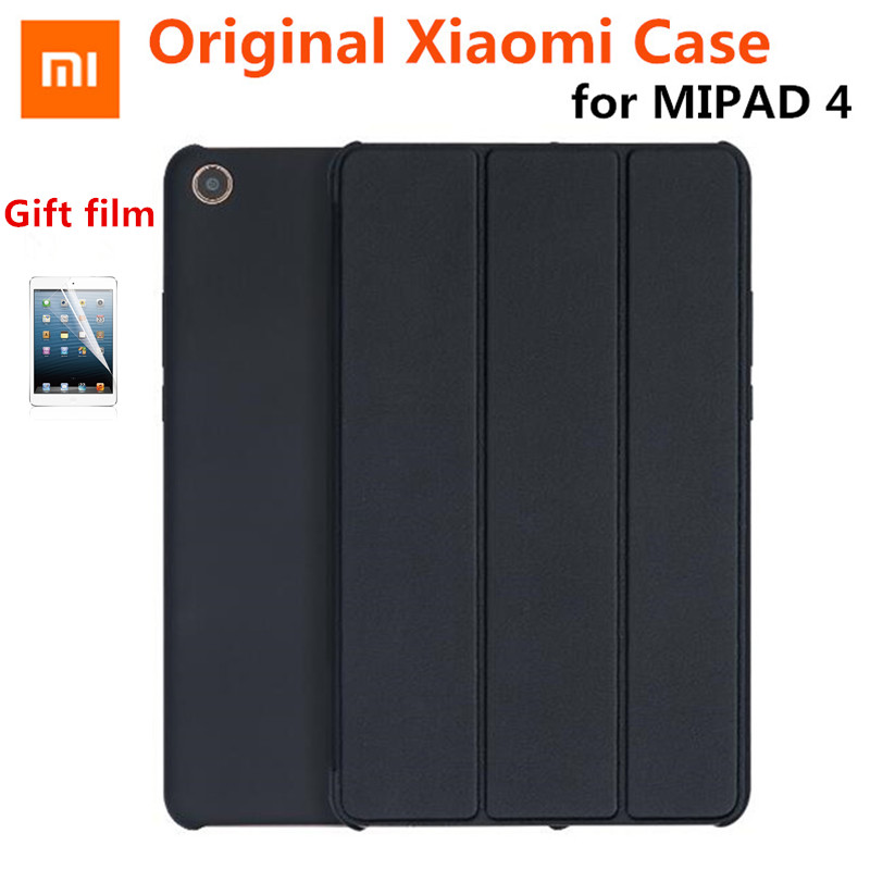 2018 Nova Magro Magnet Original Xiao mi mi Pad 4 8.0 mi pad 4 Caso Capa de Couro PU + PC inteligente virar Wake Auto-Sleep Capa + Film