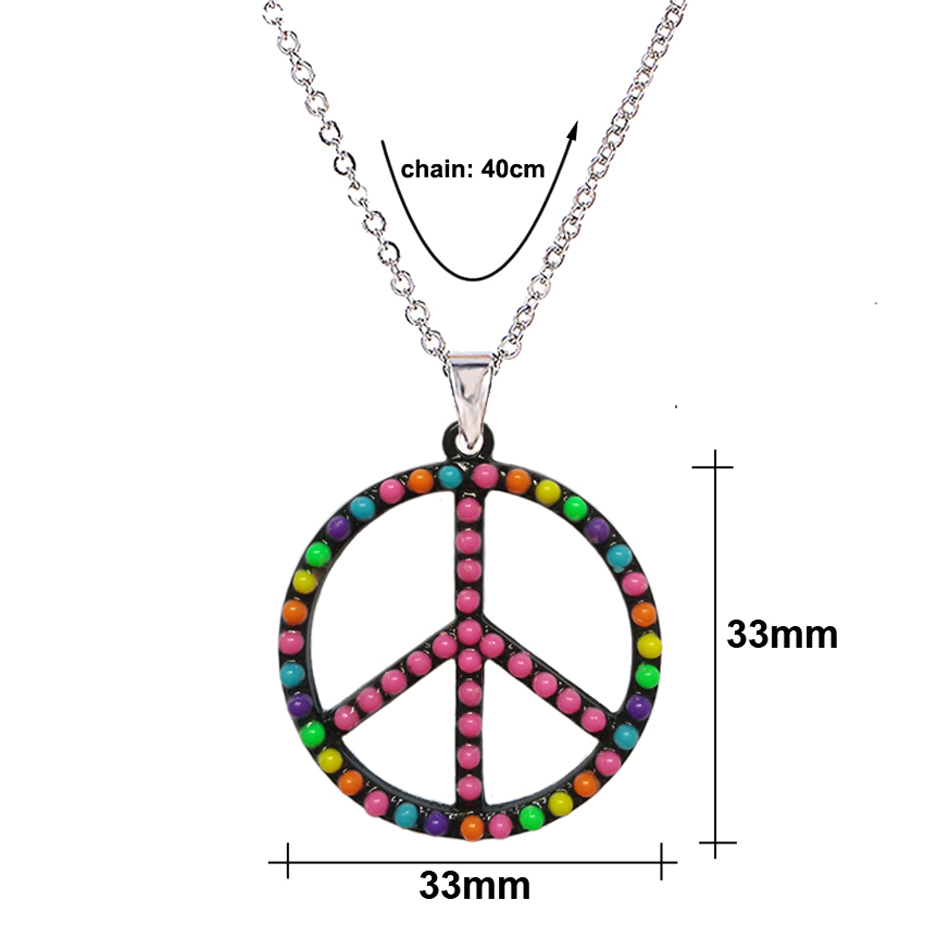 Menglina fashion metal peace symbol pendant necklace for men women menglina fashion metal peace symbol pendant necklace for men women black plated charm silver chain necklaces pendants 70214 in pendant necklaces from buycottarizona Gallery