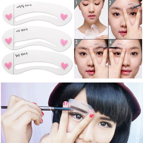 Eyebrow Moulds 3 styles reusable eyebrow drawing guide card brow template DIY make up tools