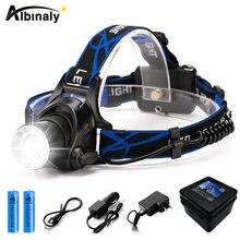 Ультраяркий светодиодный налобный фонарь cree xml t6/l2 водонепроницаемый