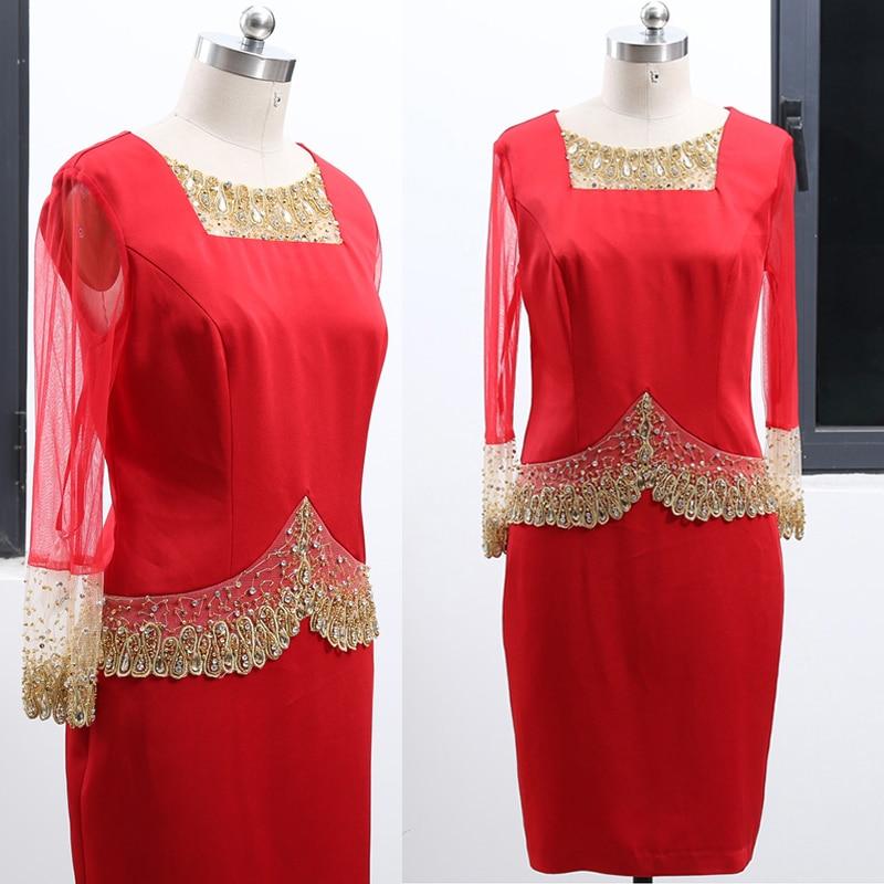 Macloth одежда с длинным рукавом Иллюзия красный Мини Мамам молодожёнов по колено Свадебная Вечеринка Вечерние платья 262154
