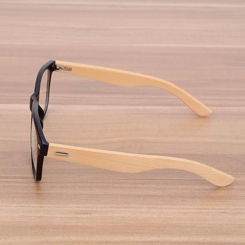 Bambu Handmade Vintage Paku Keling Kacamata Frame Pria Wanita Mahasiswa Retro Kayu Bingkai Kacamata Miopia Optik Lensa